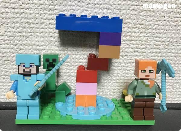 誕生日レゴで飾りつけ